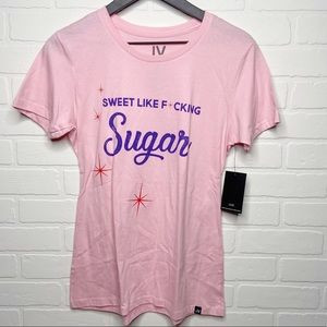 JV By Jac Vanek sweet like sugar graphic tee Small
